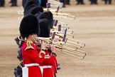 Major General's Review 2013: Musicians of  the Grenadier Guards.. Horse Guards Parade, Westminster, London SW1,  United Kingdom, on 01 June 2013 at 11:12, image #345