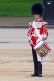 """Major General's Review 2013: The """"Lone Drummer"""", Lance Corporal Christopher Rees, starts playing the Drummer's Call.. Horse Guards Parade, Westminster, London SW1,  United Kingdom, on 01 June 2013 at 11:14, image #358"""