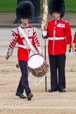 """Major General's Review 2013: The """"Lone Drummer"""", Lance Corporal Christopher Rees,  marches forward to re-join the band.. Horse Guards Parade, Westminster, London SW1,  United Kingdom, on 01 June 2013 at 11:14, image #360"""