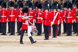 "Major General's Review 2013: The ""Lone Drummer"", Lance Corporal Christopher Rees,  marches forward to re-join the band.. Horse Guards Parade, Westminster, London SW1,  United Kingdom, on 01 June 2013 at 11:14, image #362"