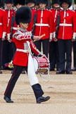 "Major General's Review 2013: The ""Lone Drummer"", Lance Corporal Christopher Rees,  marches forward to re-join the band.. Horse Guards Parade, Westminster, London SW1,  United Kingdom, on 01 June 2013 at 11:14, image #363"