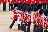 "Major General's Review 2013: The ""Lone Drummer"", Lance Corporal Christopher Rees,  marches forward to re-join the band.. Horse Guards Parade, Westminster, London SW1,  United Kingdom, on 01 June 2013 at 11:14, image #365"