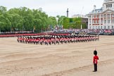 "Major General's Review 2013: The Massed Bands playing ""The British Grenadiers"" whilst No. 1 Guard is on the move.. Horse Guards Parade, Westminster, London SW1,  United Kingdom, on 01 June 2013 at 11:16, image #376"