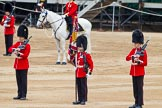 Major General's Review 2013: Colour Sergeant R J Heath, Welsh Guards, with the two (unfortunately unnamed) sentries.. Horse Guards Parade, Westminster, London SW1,  United Kingdom, on 01 June 2013 at 11:18, image #387