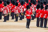 Major General's Review 2013: The Regimental Sergeant Major, WO1 Martin Topps, Welsh Guards, returns to the Escort to the Colour.. Horse Guards Parade, Westminster, London SW1,  United Kingdom, on 01 June 2013 at 11:20, image #410