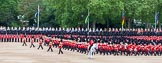 Major General's Review 2013: The Field Officer and the five Drum Majors after the Escort for the Colour has become the Escort to the Colour and the Massed Bands are performing the legendary spin wheel.. Horse Guards Parade, Westminster, London SW1,  United Kingdom, on 01 June 2013 at 11:22, image #414