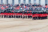 Major General's Review 2013: The Escort to the Colour performing a 90-degree-turn.. Horse Guards Parade, Westminster, London SW1,  United Kingdom, on 01 June 2013 at 11:22, image #416