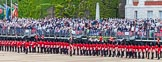 Major General's Review 2013: The Escort Tto the Colour is marching towards No.6 Guard.. Horse Guards Parade, Westminster, London SW1,  United Kingdom, on 01 June 2013 at 11:23, image #419