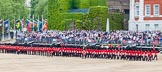 Major General's Review 2013: The Escort Tto the Colour is marching towards No.6 and No.7 Guard.. Horse Guards Parade, Westminster, London SW1,  United Kingdom, on 01 June 2013 at 11:23, image #420