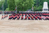 Major General's Review 2013: The five Drum Majors leading the Massed Bands as they are playing the Grenadiers Slow March.. Horse Guards Parade, Westminster, London SW1,  United Kingdom, on 01 June 2013 at 11:23, image #425