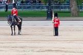 Major General's Review 2013: Major of the Parade Major H G C  Bettison, Welsh Guards and Guardsmean marking the position for no.1 Guards.. Horse Guards Parade, Westminster, London SW1,  United Kingdom, on 01 June 2013 at 11:23, image #426