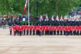 Major General's Review 2013: The Escort to the Colour has trooped the Colour past No. 2 Guard, 1st Battalion Welsh Guards, and is now almost back to their initial position, when they were the Escort for the Colour.. Horse Guards Parade, Westminster, London SW1,  United Kingdom, on 01 June 2013 at 11:25, image #435