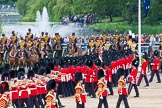 Major General's Review 2013: No. 1 Guard (Escort to the Colour),1st Battalion Welsh Guards, at the begin of the March Past.. Horse Guards Parade, Westminster, London SW1,  United Kingdom, on 01 June 2013 at 11:29, image #454