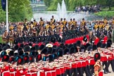 Major General's Review 2013: No. 1 Guard (Escort to the Colour),1st Battalion Welsh Guards, at the begin of the March Past.. Horse Guards Parade, Westminster, London SW1,  United Kingdom, on 01 June 2013 at 11:29, image #455