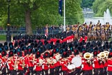 Major General's Review 2013: No. 1 Guard (Escort to the Colour),1st Battalion Welsh Guards, at the begin of the March Past.. Horse Guards Parade, Westminster, London SW1,  United Kingdom, on 01 June 2013 at 11:30, image #457