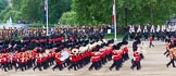 Major General's Review 2013: The Massed Bands, led by the five Drum Majors, during the March Past.. Horse Guards Parade, Westminster, London SW1,  United Kingdom, on 01 June 2013 at 11:30, image #459