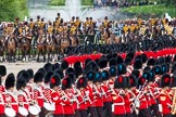 Major General's Review 2013: No.2 Guard ,1st Battalion Welsh Guards, at the begin of the March Past.. Horse Guards Parade, Westminster, London SW1,  United Kingdom, on 01 June 2013 at 11:30, image #460