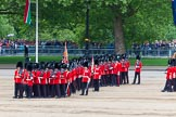 Major General's Review 2013: The March Past in Slow Time - Field Officer and Major of the Parade leading the six guards around Horse Guards Parade.. Horse Guards Parade, Westminster, London SW1,  United Kingdom, on 01 June 2013 at 11:30, image #461