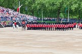 Major General's Review 2013: The March Past in Slow Time - Field Officer and Major of the Parade leading the six guards around Horse Guards Parade.. Horse Guards Parade, Westminster, London SW1,  United Kingdom, on 01 June 2013 at 11:30, image #465