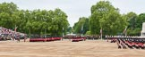 Major General's Review 2013: The March Past in Slow Time - Field Officer and Major of the Parade leading the six guards around Horse Guards Parade.. Horse Guards Parade, Westminster, London SW1,  United Kingdom, on 01 June 2013 at 11:30, image #463