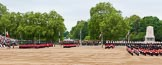 Major General's Review 2013: The March Past in Slow Time - Field Officer and Major of the Parade leading the six guards around Horse Guards Parade.. Horse Guards Parade, Westminster, London SW1,  United Kingdom, on 01 June 2013 at 11:30, image #464