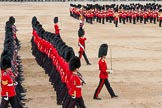 Major General's Review 2013: The March Past in Slow Time - the Ensign, Second Lieutenant Joel Dinwiddle, in front of No. 1 Guard, the Escort to the Colour.. Horse Guards Parade, Westminster, London SW1,  United Kingdom, on 01 June 2013 at 11:34, image #487