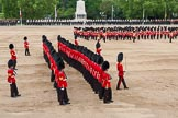 Major General's Review 2013: The March Past in Slow Time - the Ensign, Second Lieutenant Joel Dinwiddle, in front of No. 1 Guard, the Escort to the Colour.. Horse Guards Parade, Westminster, London SW1,  United Kingdom, on 01 June 2013 at 11:34, image #488