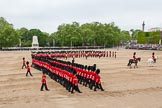 Major General's Review 2013: The March Past in Slow Time - the Ensign, Second Lieutenant Joel Dinwiddle, in front of No. 1 Guard, the Escort to the Colour.. Horse Guards Parade, Westminster, London SW1,  United Kingdom, on 01 June 2013 at 11:34, image #490