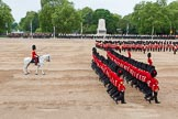 Major General's Review 2013: The March Past in Slow Time-No.6 Guard, No.7 Company, Coldstream Guards and The Adjutant of the Parade, Captain C J P Davies, Welsh Guards.. Horse Guards Parade, Westminster, London SW1,  United Kingdom, on 01 June 2013 at 11:36, image #512