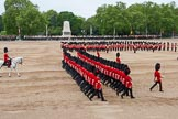 Major General's Review 2013: The March Past in Slow Time-No.6 Guard, No.7 Company, Coldstream Guards and The Adjutant of the Parade, Captain C J P Davies, Welsh Guards.. Horse Guards Parade, Westminster, London SW1,  United Kingdom, on 01 June 2013 at 11:36, image #513