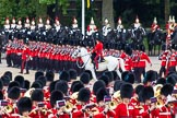 Major General's Review 2013: No. 1 Guard (Escort for the Colour),1st Battalion Welsh Guards, at the beginning of the March Past in Quick Time.. Horse Guards Parade, Westminster, London SW1,  United Kingdom, on 01 June 2013 at 11:39, image #522