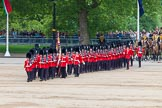 Major General's Review 2013: The March Past in Quick Time - the guards perform another ninety-degree-turn.. Horse Guards Parade, Westminster, London SW1,  United Kingdom, on 01 June 2013 at 11:40, image #528