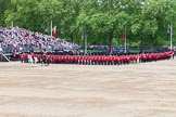 Major General's Review 2013: The March Past in Quick Time - No.1 Guard, the Escort to the Colour, following the Field Officer and the Major of the Parade.. Horse Guards Parade, Westminster, London SW1,  United Kingdom, on 01 June 2013 at 11:41, image #532