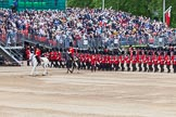 Major General's Review 2013: The March Past in Quick Time - No.1 Guard, the Escort to the Colour, following the Field Officer and the Major of the Parade.. Horse Guards Parade, Westminster, London SW1,  United Kingdom, on 01 June 2013 at 11:41, image #534