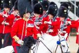 Major General's Review 2013: The March Past in Quick Time-The Field Officer in Brigade Waiting, Lieutenant Colonel Dino Bossi, Welsh Guards.. Horse Guards Parade, Westminster, London SW1,  United Kingdom, on 01 June 2013 at 11:42, image #535