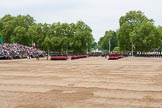 Major General's Review 2013: The March Past in Quick Time - the guards perform another ninety-degree-turn.. Horse Guards Parade, Westminster, London SW1,  United Kingdom, on 01 June 2013 at 11:40, image #530