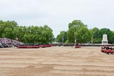 Major General's Review 2013: The March Past in Quick Time - the guards perform another ninety-degree-turn.. Horse Guards Parade, Westminster, London SW1,  United Kingdom, on 01 June 2013 at 11:41, image #531