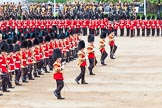 Major General's Review 2013: The Massed Band march away to leave room for  the Mounted Bands.. Horse Guards Parade, Westminster, London SW1,  United Kingdom, on 01 June 2013 at 11:49, image #570
