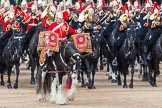 Major General's Review 2013: The kettle drummr from The Life Guards during the Ride Past.. Horse Guards Parade, Westminster, London SW1,  United Kingdom, on 01 June 2013 at 11:50, image #582