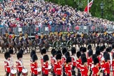 Major General's Review 2013: The Ride Past - the King's Troop Royal Horse Artillery. Six horses are pulling a WWI 13-pounder field gun.. Horse Guards Parade, Westminster, London SW1,  United Kingdom, on 01 June 2013 at 11:51, image #586