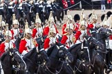 Major General's Review 2013: The First and Second Divisions of the Sovereign's Escort, The Life Guards, during the Ride Past.. Horse Guards Parade, Westminster, London SW1,  United Kingdom, on 01 June 2013 at 11:53, image #618