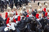 Major General's Review 2013: The First and Second Divisions of the Sovereign's Escort, The Life Guards, during the Ride Past.. Horse Guards Parade, Westminster, London SW1,  United Kingdom, on 01 June 2013 at 11:53, image #619