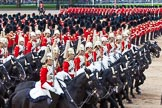 Major General's Review 2013: The First and Second Divisions of the Sovereign's Escort, The Life Guards, during the Ride Past.. Horse Guards Parade, Westminster, London SW1,  United Kingdom, on 01 June 2013 at 11:53, image #624