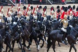 Major General's Review 2013: The Third and Forth Divisions of the Sovereign's Escort, The Blues and Royals, during the Ride Past.. Horse Guards Parade, Westminster, London SW1,  United Kingdom, on 01 June 2013 at 11:53, image #626