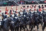 Major General's Review 2013: The Third and Forth Divisions of the Sovereign's Escort, The Blues and Royals, during the Ride Past.. Horse Guards Parade, Westminster, London SW1,  United Kingdom, on 01 June 2013 at 11:53, image #627