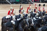 Major General's Review 2013: The Third and Forth Divisions of the Sovereign's Escort, The Blues and Royals, during the Ride Past.. Horse Guards Parade, Westminster, London SW1,  United Kingdom, on 01 June 2013 at 11:53, image #631