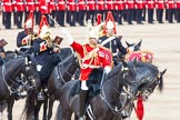Major General's Review 2013: The Mounted Bands of the Household Cavalry during the Ride Past. The Director of Music of the Household Cavalry, Major Paul Wilman, The Life Guards.. Horse Guards Parade, Westminster, London SW1,  United Kingdom, on 01 June 2013 at 11:54, image #637