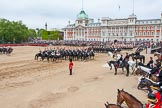Major General's Review 2013: The Third and Forth Divisions of the Sovereign's Escort, The Blues and Royals, during the Ride Past.. Horse Guards Parade, Westminster, London SW1,  United Kingdom, on 01 June 2013 at 11:54, image #633