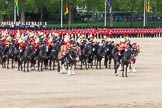 Major General's Review 2013: The Mounted Bands of the Household Cavalry during the Ride Past. The Director of Music of the Household Cavalry, Major Paul Wilman, The Life Guards.. Horse Guards Parade, Westminster, London SW1,  United Kingdom, on 01 June 2013 at 11:55, image #641