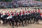 Major General's Review 2013: The First and Second Divisions of the Sovereign's Escort, The Life Guards, during the Ride Past.. Horse Guards Parade, Westminster, London SW1,  United Kingdom, on 01 June 2013 at 11:57, image #651